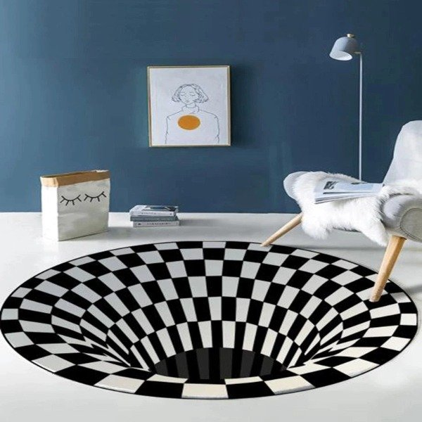 New Vortex Illusion Rug-120cm