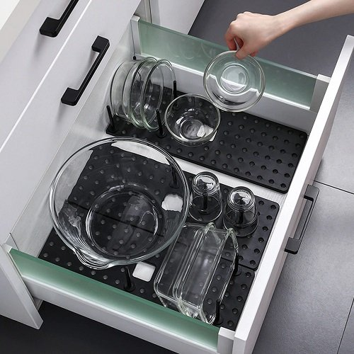 Drawer Retractable Tableware Rack