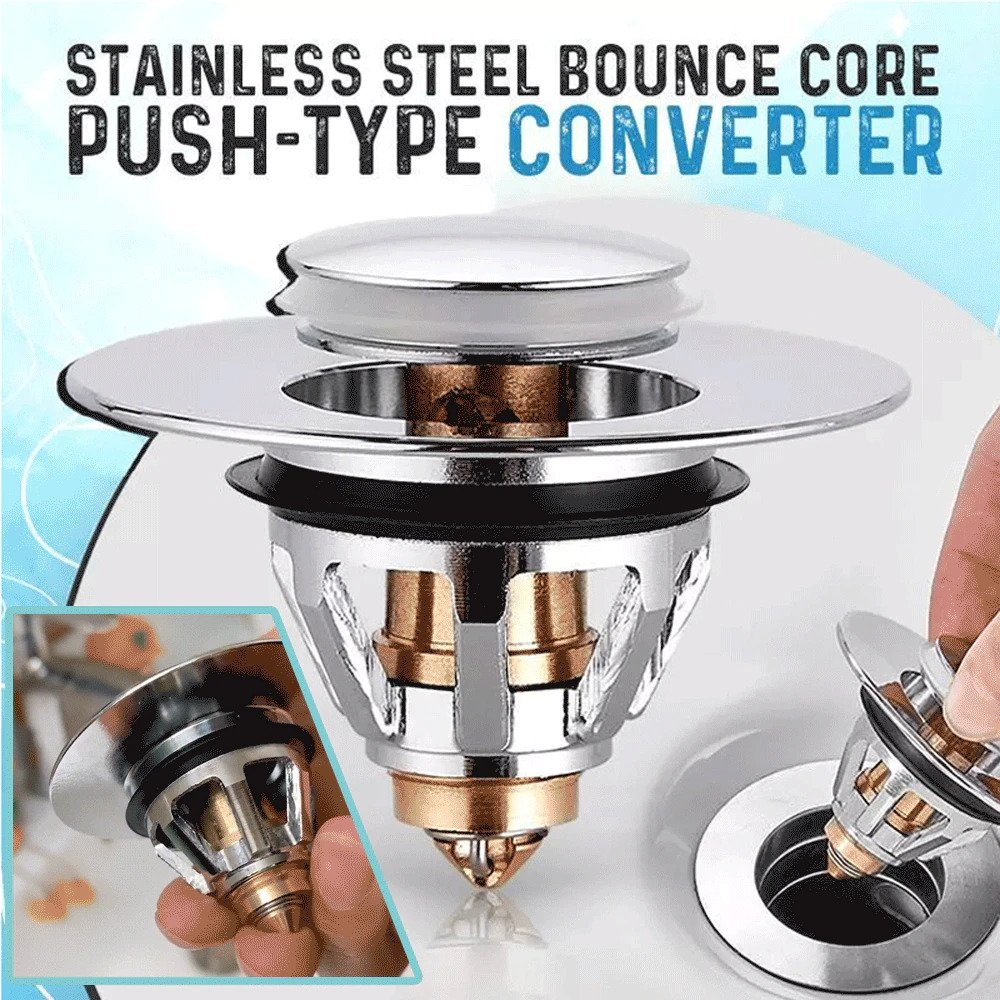 Stainless Steel Bounce Drain Sink Filter