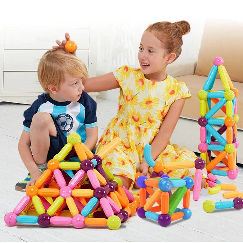 kids Magnetic Balls & Rods - Educational Magnet Building Blocks