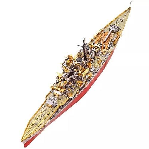 Navy battleship DIY 3D Metal Puzzle